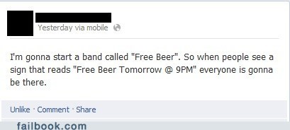 band names,beer,free beer