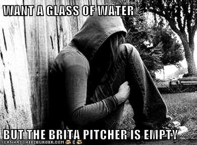 Brita First World Problems glass of water - 6591682048
