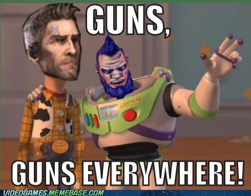 borderlands 2 guns meme - 6591694336