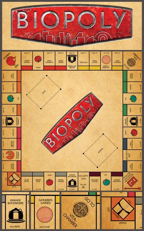 big daddy bioshock board game monopoly