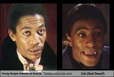 Young Morgan Freeman As Dracula Totally Looks Like Cat Red Dwarf
