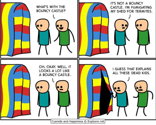 Bounce House comic cyanide and happiness dead children - 6591856640