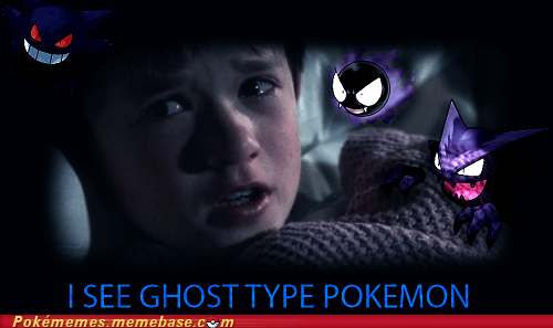 ghost types,silph scope,the sixth sense