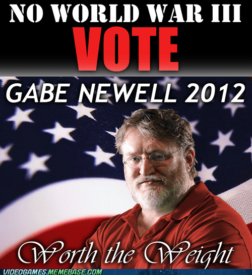 3 gabe newell gaben haha fat joke World War III - 6591979776