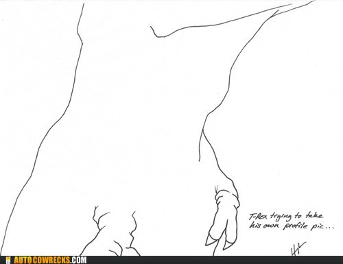 profile pic self poortraits short arms t rex - 6592068864