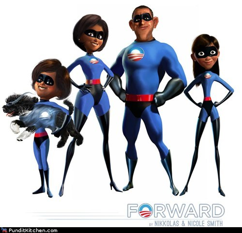 barack obama,family,Fan Art,Malia Obama,Michelle Obama,Sasha Obama,the incredibles