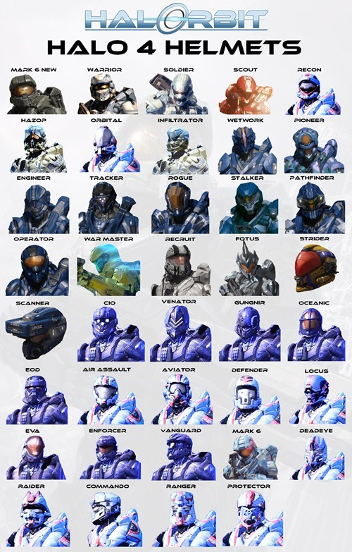 343 industries customization Halo 4 helmets - 6592072960