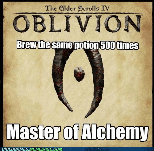 alchemy elder scrolls oblivion video game logic - 6592079104