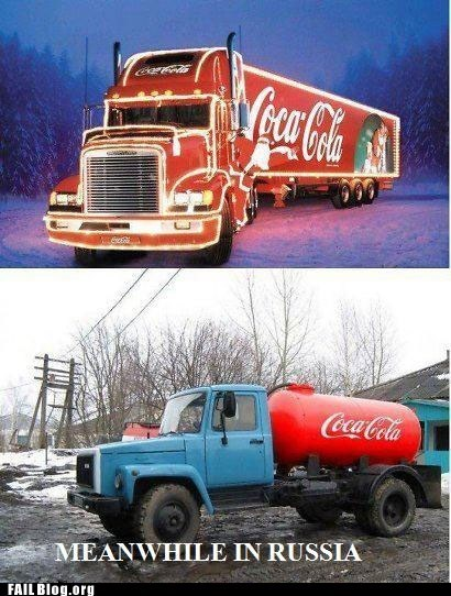 coca cola,engrish funny,only in russia,russia,soda,truck
