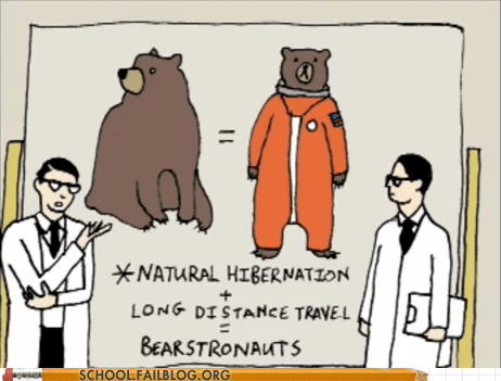 a matter of time,astronauts,bears,bearstronauts,hibernation
