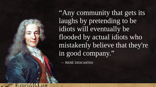 company descartes idiots internet quote