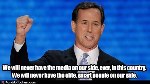misspeaking Rick Santorum smart people speech wrong message - 6592245504