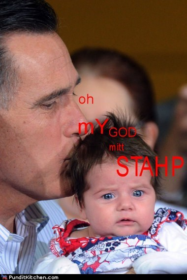 distressed kissing babies Mitt Romney stahp - 6592268800