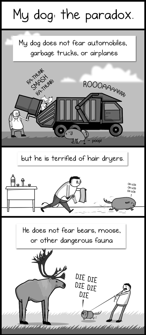 comics,dogs,paradoxes,the oatmeal,trucks