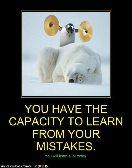 polar bear penguin cymbals loud waking up mistakes learning - 6592362240