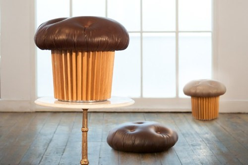 chair chocolate cupcakes design stool - 6592448256
