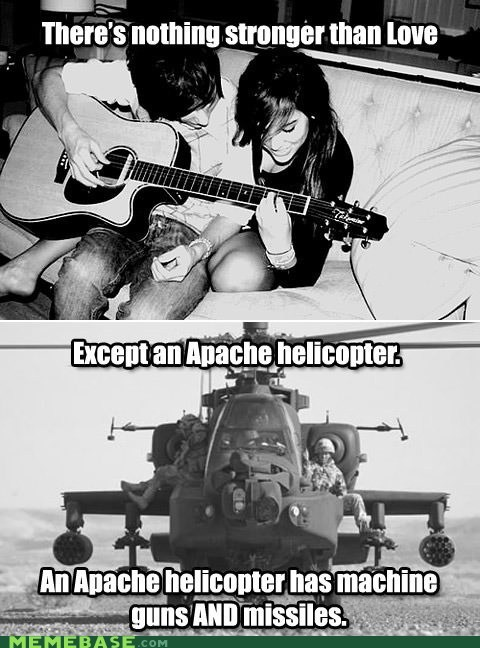 Apache guns helicopter love missiles strength - 6592460800