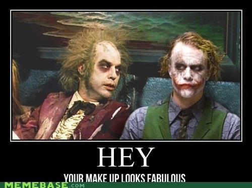 beetlejuice,fabulous,Hey,joker,makeup