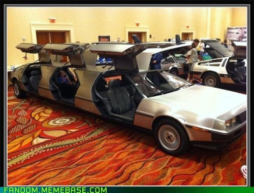 back to the future,DeLorean,scifi,stretch limo
