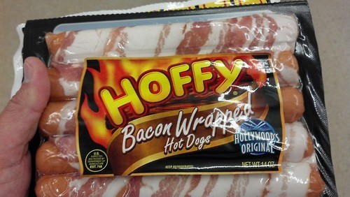 bacon hot dogs so this exists wrapped - 6592572416