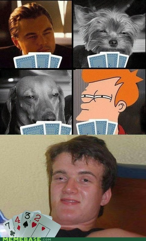 fry,high guy,poker face,squinting