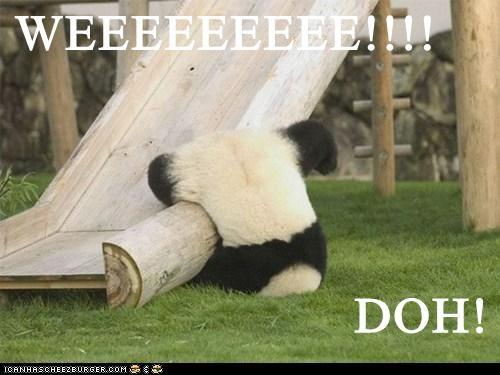 panda the simpsons doh weeee slide fall - 6592729088