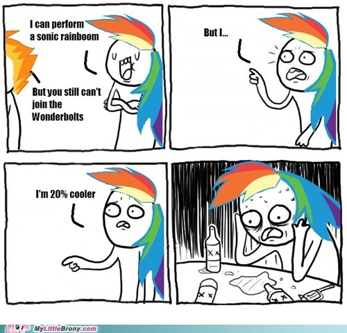 comic just get a wingboner meme rainbow dash wonderbolts - 6592755200