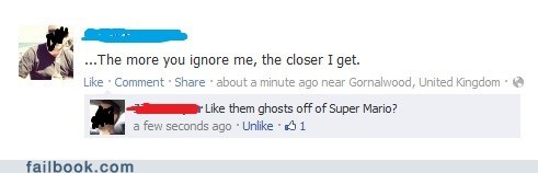 Mario Ghosts= forever alone