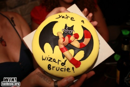 baking,batman,cake,food,Harry Potter,nerdgasm