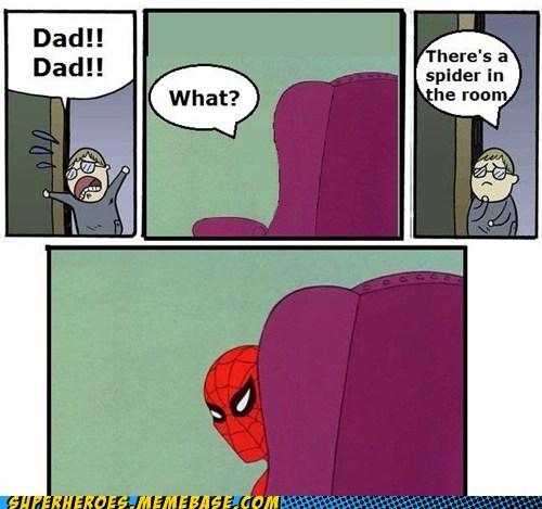 chair dad scared Spider-Man - 6593148672