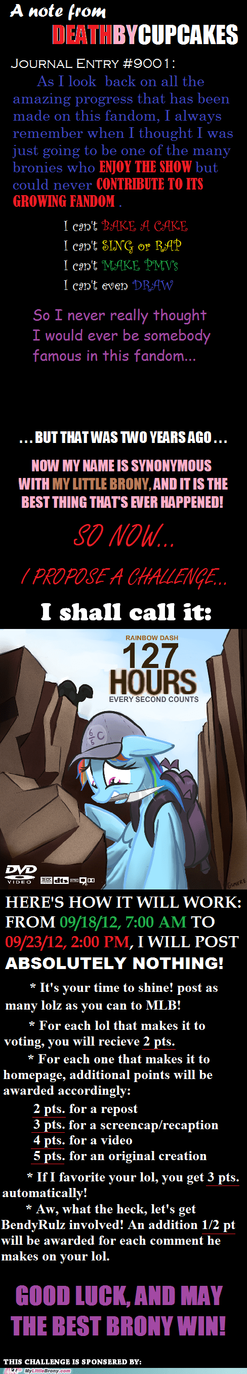 Challenge Accepted deathbycupcakes good luck is this real life my little brony What is happening - 6593408256