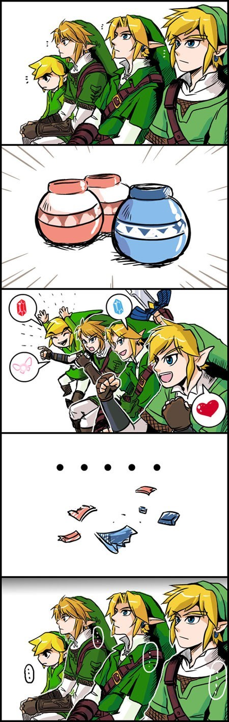 link pots reaction guys rupees zelda