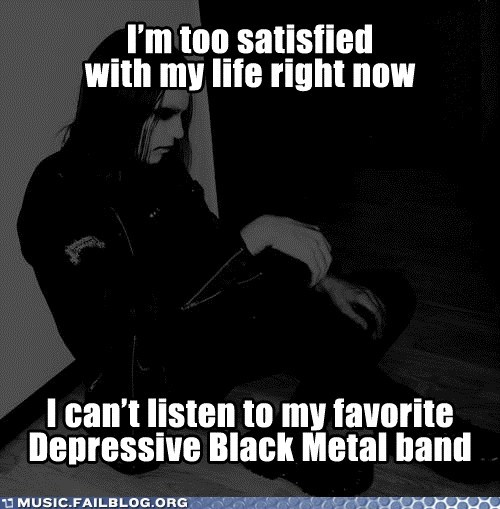 black metal,depression