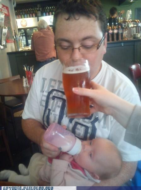 baby beer feeding time tanked toddlers - 6593706240