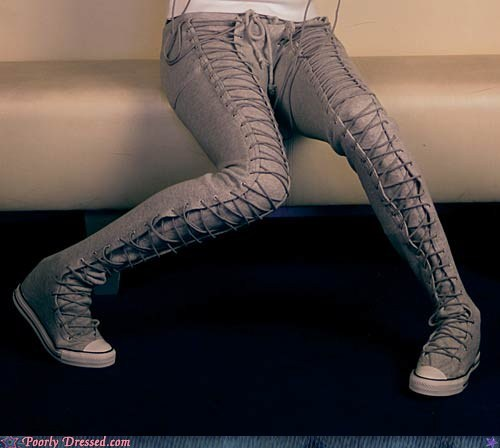 laces pants shoes - 6593880576