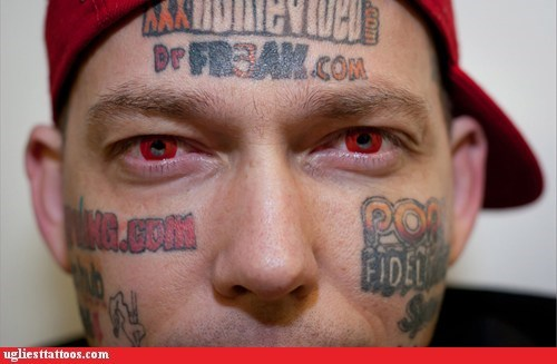 advertisements,face tattoos