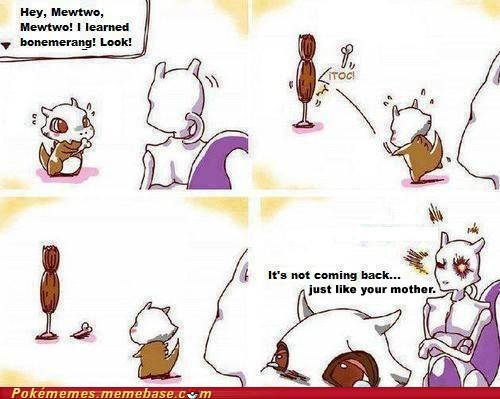 bad guy comic cubone mewtwo Sad - 6594106880