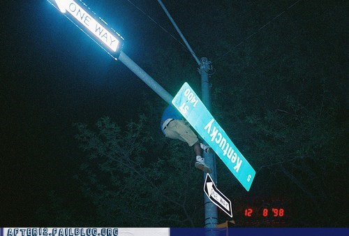 street sign you are drunk climbing - 6594184960
