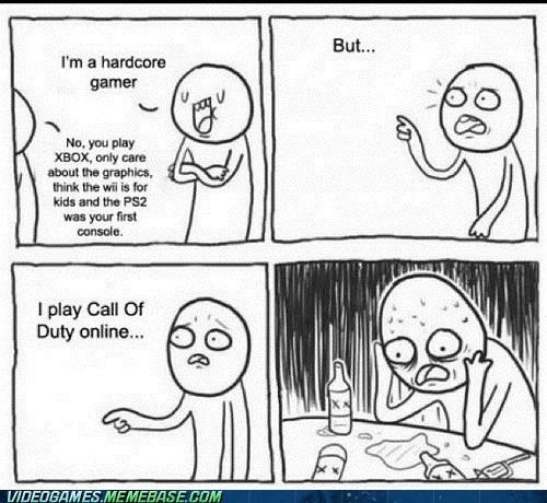 call of duty hardcore gamer meme nooooo - 6594202112