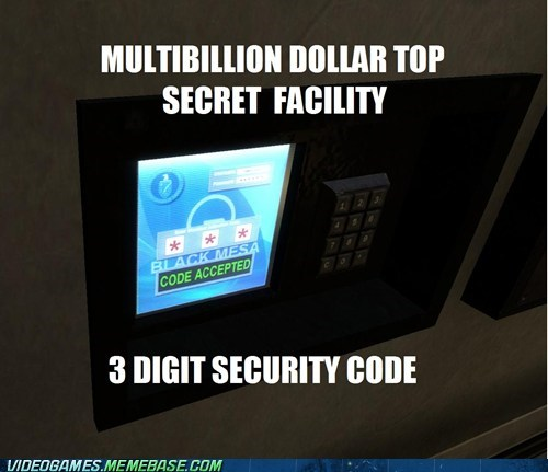 black mesa,secret,security code,shhhh