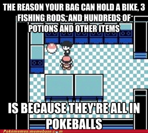 bag,items,mind blown,Pokeballs,y-not