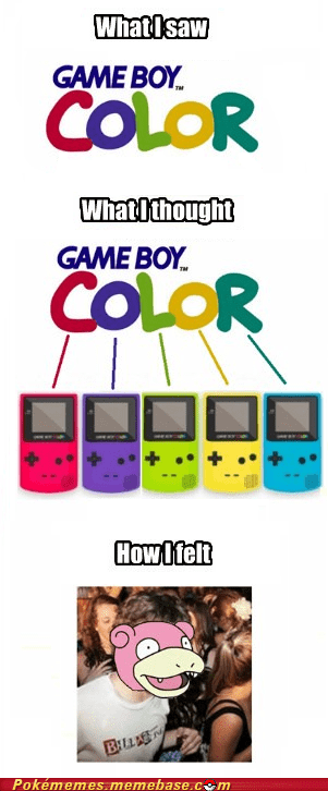 colors,game boy color,slowpoke,sudden clarity clarence