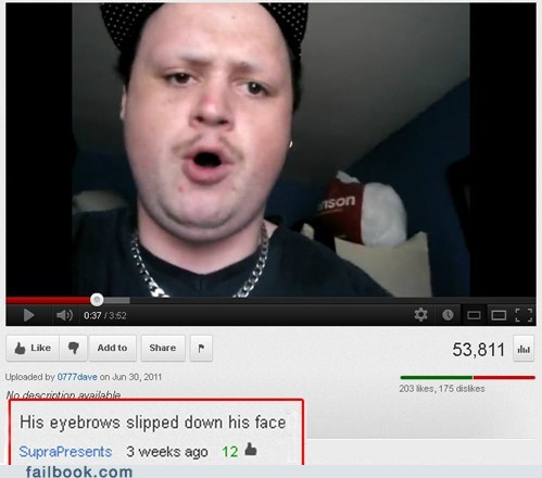 beard,eyebrows,youtube,youtube comments