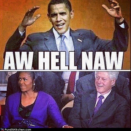 affair aww hell naw barack obama bill clinton Michelle Obama touching - 6594670080