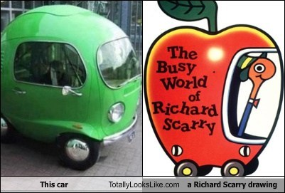 art,car,funny,richard scarry,TLL