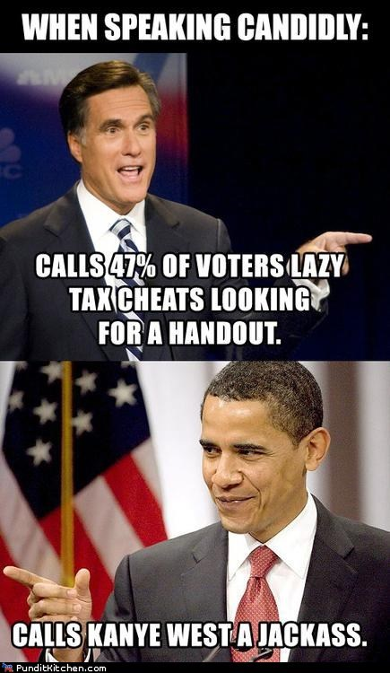 barack obama candid differences jackass kanye west lazy Mitt Romney speaking - 6594734592