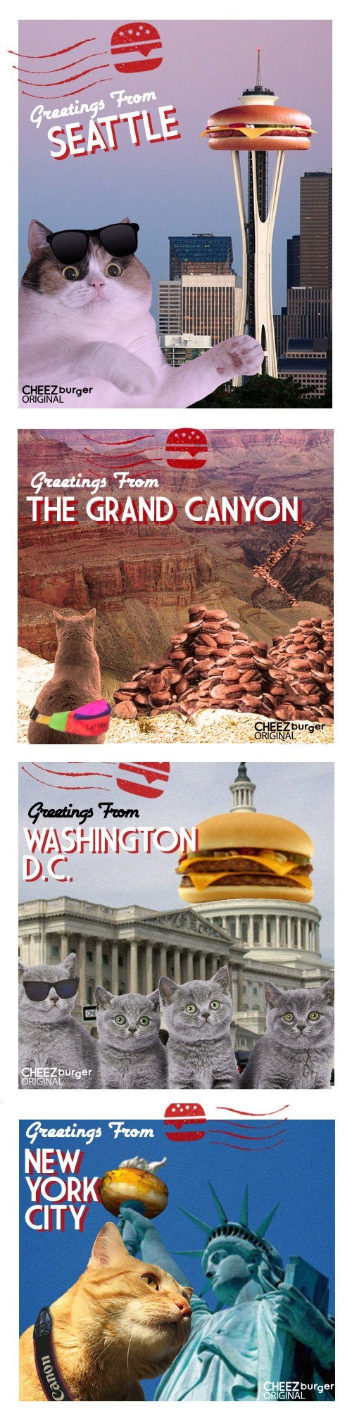 awesome burgers Cats cheezburgers food holidays national cheezburger day original content originals Travel