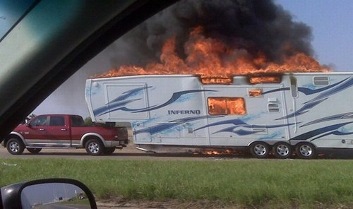 cars,driving,fire,irony,literal,trailers