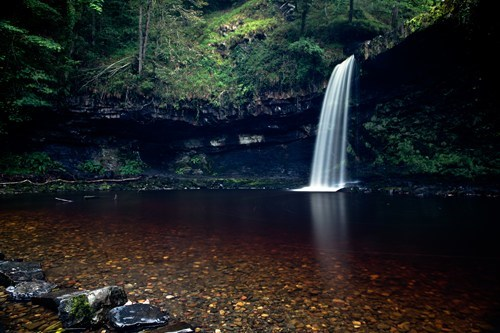falls,pool,Wales,waterfall
