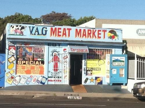 accidental sexy lady bits market meat name sign - 6594935296